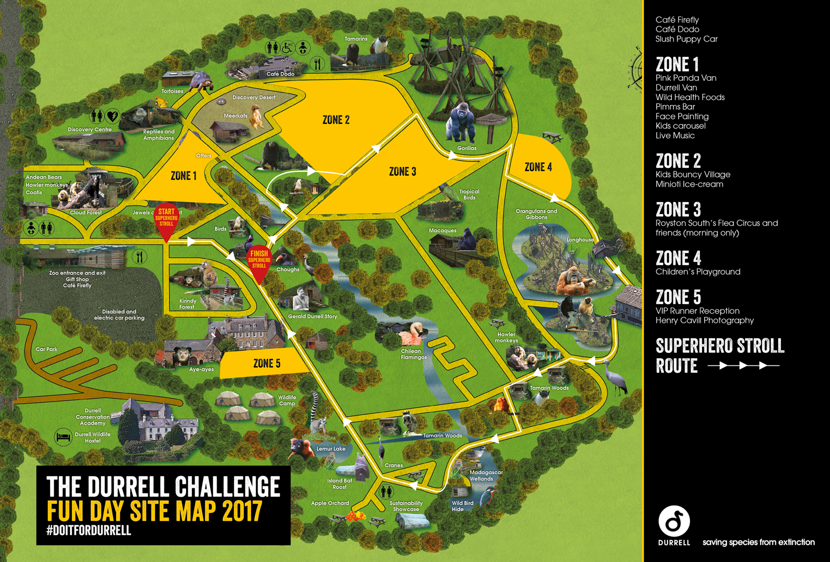 2841 - Durrell Challenge map site map 2017